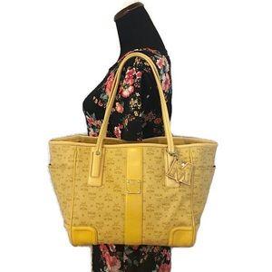MCM Yellow Tote Bag